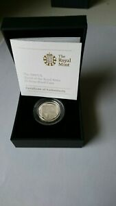 2009 Royal Mint Shield of the Royal Arms Silver Proof One Pound with Case & COA.
