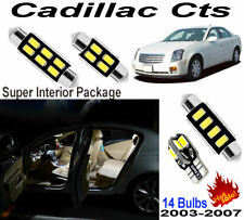 14pcs Xenon White LED Car Interior Light Kit Lamp For Cadillac Cts 2003~2007