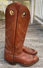 VTG TONY LAMA TALL GOLD LABEL BUCKAROO COWBOY WESTERN RIDING RODEO BOOTS 10 D