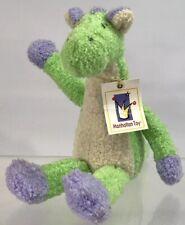Manhattan Toy Peabodies Dylan Dinosaur Dragon 9� Stuffed Animal Plush 2000 Nwt
