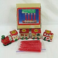 Christmas Around the World Ceramic Candle Train No. 54-627 Vintage in Box