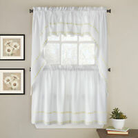 Daisy Mae Floral Kitchen Window Curtain Tier Pair, Valance or Swag Pair Yellow