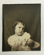 vintage Photobooth photo booth - Sweet Small Girl Two Thumbs Up - Mom's Hand