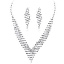 New Trends Geometric Shape Big Pendant Statement Necklace Jewelry Set Ms. C U9U3