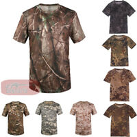Mens Army Outdoor Combat Shirt Casual Tactical T shirt Military Quick Dry Hiking