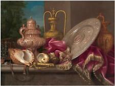 Plate Shells Sword M. Conte Accent Tile Mural Kitchen Backsplash Marble Ceramic