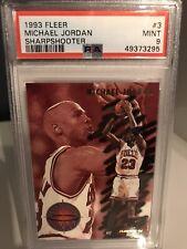 1993 Fleer Michael Jordan Sharpshooter PSA Mint 9 #3