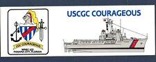 Bumper Sticker Wmec-622 Uscgc Courageous Uscg Coast Guard Cutter Ship Squadron