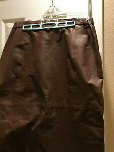 Brown Leather Skirt