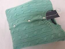 NWT polo RALPH LAUREN sport  thick cardigan sweater M light green