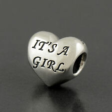 Authentic Genuine Pandora Sterling Silver It's A Girl Charm - 791280PCZ