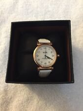 NEW COACH  MADISON ROSE GOLD STEEL CASE WHITE LEATHER WOMENS WATCH 14502408