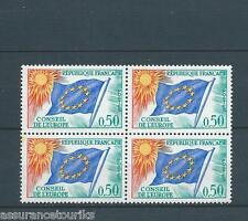 FRANCE SERVICE - 1963-71 YT 33 bloc de 4 - TIMBRES NEUFS** LUXE - 001