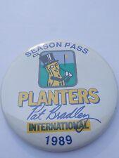Planters Mr. Peanut Pat Bradley Golf Tournament 1989 Pin Button Season Pass