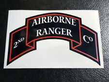WW2 D-Day 2nd Airborne Ranger Company Unit Patch Large Car Bumper vinyl Sticker