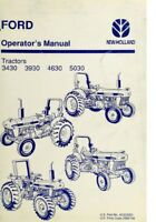 New Holland Ford Tractor Operator's Manual 3430 3930 4630 5030 - Digital