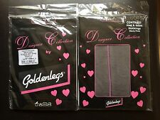 Due paia di calze nere con cuciture rosa!