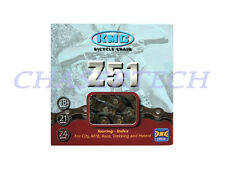"New KMC Z51 MTB Road Touring City Bicycle Bike 6, 7, 8 Speed 1/2"" x 3/32"" Chain"