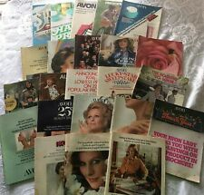Vtg AVON Product Catalogs LOT of 23 Booklets 1973-74 1 1977 Brush Jewelry