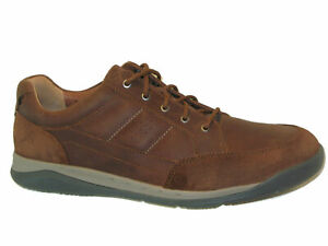 Clarks NEW Unstructured Mens Leather Sneakers Oxfords USA Sz 13 EUR 47 Brown