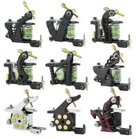 Pro Tattoo Machine Gun Supply Set Dual 10-Wrap Coil Liner Lining Shader Shading
