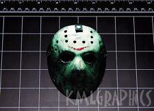 Friday the 13th Jason Vorhees Hockey Mask decal sticker Crystal Lake 80s horror