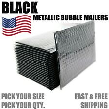 Black Metallic Bubble Mailers Padded Envelope Protective Packaging Bags Mailers