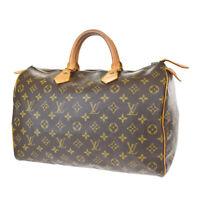 Auth LOUIS VUITTON Speedy 35 Travel Hand Bag Monogram Leather BN M41524 37MG237