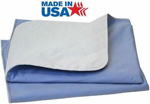 36x72 Reusable Adult Bed Pads Underpad Hospital Grade Incontinence Washable-Blue