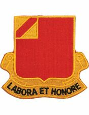 """N-DUI-0022 22 Field Artillery """"Labore Et Honore"""" Patch with Heat Seal 3 1/2"""""""