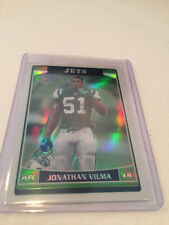 2006 Topps Chrome Football Jonathan Vilma New York Jets Refractor parallel #1