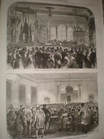 Opening of the new Mechanic's Institute at Bolton 1868 old print ref W1