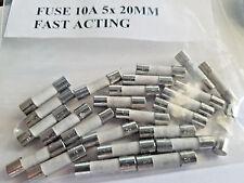 Fuse 10A Ceramic Fast-Blow Fuse 250v 5x20mm 5 x 20mm....Lot of 25