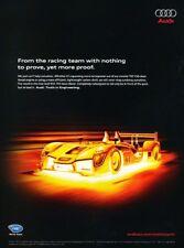 2009 Audi Race R15 TDI Lights Original Advertisement Print Art Car Ad J952