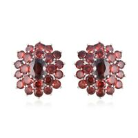 Stud Solitaire Earrings Oval Garnet Gift Jewelry for Women Ct 7