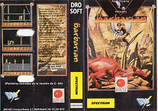 BARBARIAN - ZX SPECTRUM / DRO SOFT PSYGNOSYS RARE SPANISH CASSETTE WITH BOOKLET