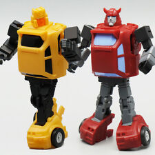 Set 2pcs G1 Minibot Autobot HUBCAP CLIFFJUMPER Action Figure 9CM Toy New in Box