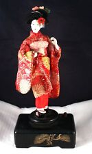 "Vintage 11"" Japanese Geisha Doll Music Box"