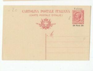 Uk409/ Italien Post Valona Ganzsache 6 *