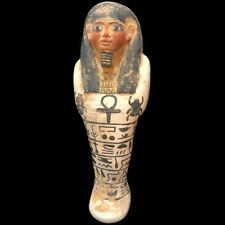 BEAUTIFUL ANCIENT EGYPTIAN HUGE SHABTI STATUETTE 300 BC
