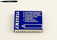 1 x vintage Package A.W. Faber-Castell ink cartridges Blue No. 5506 (dried out)