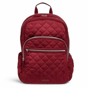 Vera Bradley Performance Twill Berry Red Campus Backpack