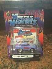 1:64 1955 Chevy MUSCLE MACHINES Injected In Purple
