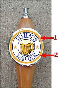 Custom Personalized MUG GLASS  Beer Tap Handle knob tapper Kegerator Man Cave
