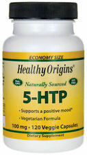 Healthy Origins 5-HTP 100 MG 120 Veggie Capsules Mood Sleep Enhancer