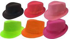 KID FEDORA TRILBY FEDORA Girl Boy Children BUCKET HAT   SOLID CAP