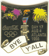 1996 ATLANTA OLYMPIC COCA COLA DAY PIN 17 FOR BOTTLE PUZZLE SET CLOSING CER.