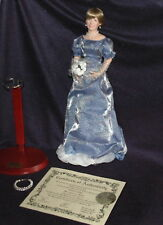 Princess Diana Queen Of Hearts Porcelain Doll Original First Issue 1997 NIB COA