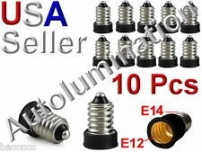 10 Pcs E12 Lamp To E14 Socket LED Bulbs Adapter Holder Converter Candelabra Base