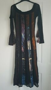 Legatte Jeans, Ladies  Black/Muticoloured  Dress, Size 1 small
